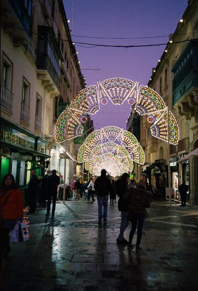 Valletta, Expired Timee, 35mm Film, Agfa Vista, Analog, Valletta 18, Christmas, Republic Street, Valletta