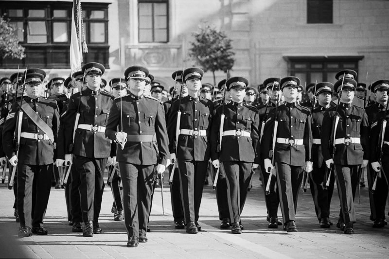35mm Film, HP5+, Portra 160, Analog, Republic Day Parade, 13th December, Valletta